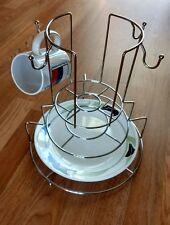 MULTI-TIER ORGANIZER Mugs Cups Dishes Plates Storage Metal Tall Hostess Kitchen