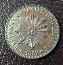 URUGUAY COPPER COIN 5 Centesimos, KM8  AU  1857D