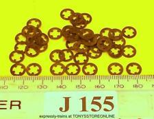 j155 jouef ho new spares 50x self locking 4mm steel rings