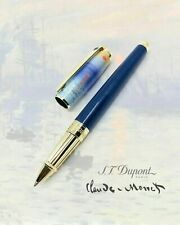 ST DUPONT CLAUDE MONET LIMITED EDITION GOLD BLUE LACQUER ROLLERBALL PEN 412049