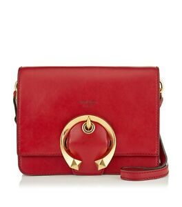 NEW, JIMMY CHOO 'MADELINE' RED LEATHER CROSSBODY HANDBAG, $1695