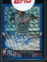 ANTHONY SEIGLER AUTO 1st 2018 Bowman Chrome BLUE WAVE REFRACTOR #/150 Rookie RC