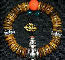 Tibetan antique prayer beads mala crystal gabala bracelet worry rosary old tibet