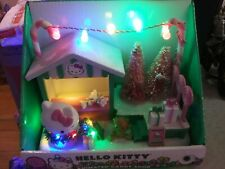 New Hello Kitty Christmas Animated Candy Shop Lighted Musical Table Decoration