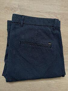 Scotch & Soda Herren Chino Hose Stuart Regular Fit W30 L32 Blau / Navy Blue TOP