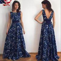 US Women Boho Long Maxi Dress Evening Cocktail Party Beach Dresses Sundress New
