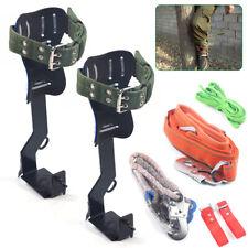 2 Pcs Treepole Climbing Spike Safety Belt Straps Lanyard Carabiner Ropes 2 Gear