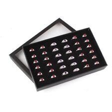 36 Slots Display Cufflinks Earring Holder Organizer Storage Ring Box Tray