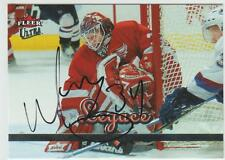 Manny Legace AUTOGRAPH HOCKEY CARD SIGNED