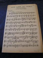Partition Les airs du Poilu Francis Salabert Music Sheet