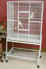 "Large Bird Parrot Cage Cockatiel Conure 32""Lx19""Wx64 34;H Wrought Iron Flight 503"