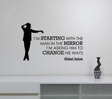 Michael Jackson Quote Wall Decal Inspirational Words Vinyl Sticker Art Decor jq1
