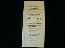 Vintage Shiawassee County Morrice Perry Corunna Durand Owosso MI Street Road Map