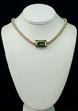 Artisan Necklace Venetian Glass Pearls gold fill Adjustable Handcrafted USA