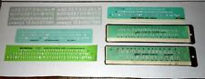 Lot of Vintage Templates Lettering Guides for Architect, Drafting, Engineering