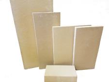 H&S Karmin 40 x 30 x 3 cm Schamotteplatte - 3 Stück
