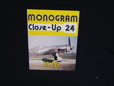 Monogram Close-Up 24 TA 152 B&W & Color Illu. Pbk VGC