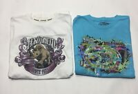 Lot of 2 Men's Ecko Unltd Graphic Tee T-shirts Sz L Blue and White EUC