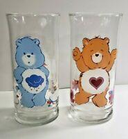 Vintage Care Bears Drinking Glasses 1983 Pizza Hut Collectible Lot of 2 Cups