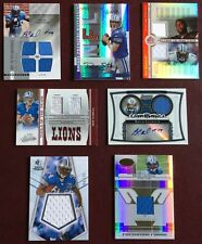 DETROIT LIONS  FOOTBALL CARD LOT X 7 ALL ARE AUTOS & JERSEYS