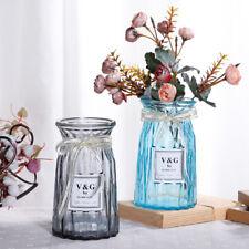 Glass Vase or Bottle for Flower Arrangement at Home Multi Color