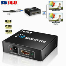 2x1 1x2 In Out 2 Way 4K HDMI Switch Switcher Splitter Hub HDCP 3D for HDTV USA