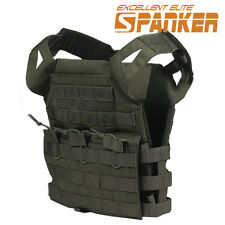 Children MOLLE Gunner Lightweight Plate Carrier Vest Military JPC Vest Black TAN