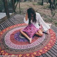Indian Flower Hippie Mandala Round Beach Throw Bohemian Tapestry Yoga Mat 50