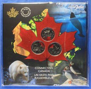 Canada 2020 - Special Connecting Canada  Quarter Set - (3 Unique Quarters)