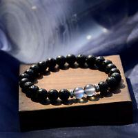 8MM Lava Stone Essential Oil Bracelet Matte Moonstone Women Men Couple Bracelets