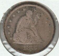 1875 S Very Fine VF Seated Liberty US Silver Twenty Cent Piece 20C