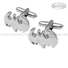 Men's Cufflinks Engravable Batman Superhero DC Comics Silver Wedding Xmas Gift