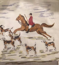 Hp Needlepoint Fox Hunt With Dogs Canvas. 18 Mesh