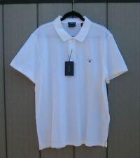 """Camisa Polo Para Hombre Gant Rugger Grande 44"""" en el Pecho Regular Fit Blanco Nuevo Con Etiqueta"""