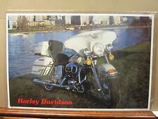 Vintage Poster Harley-Davidson motorcycle car garage man cave 4557