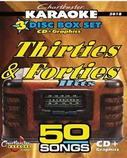 New listing Karaoke Cdg Chartbuster 3 Disc Set 5018 Thrirties & Fourties Hits with song List