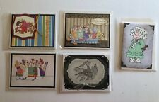 Professional Handcrafted Greeting Cards Embellishments Lot of 5 Funny Whimsical