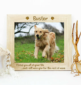 Personalised Quote Pet Dog Memorial Wooden Picture Photo Frame Keepsake Gift