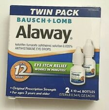 (TWIN PACK) Bausch + Lomb Alaway Eye Itch Relief Eye Drops (2 x 10mL) EXP10/2021