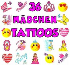 German Trendseller® - 36 x Tattoos für Mädchen | Kinder Tattoos | Tattoo Mix