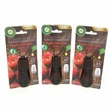 (3) Air Wick Essential Mist Oils Diffuser Refill Apple Cinnamon Medley 0.67 oz