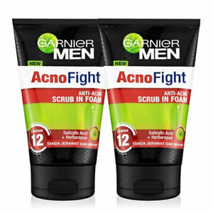 [GARNIER] Men Salicylic Acid Acne Fight Acne Black Head Large Pores 2x100ml