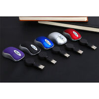 MINI RETRACTABLE USB OPTICAL MOUSE FOR PC LAPTOP COMPUTER NOTEBOOK SCROLL WHEEL