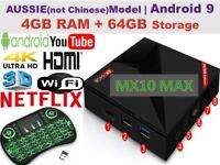 2020 MX10 MAX Smart Android TV BOX 4K for Netflix Prime Video Disney MXQ Pro OZ