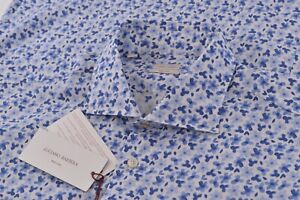 NWT Luciano Barbera Size XL Dress Shirt Blue White Made in Italy Brand New