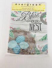 """Evergreen Bless Our Nest Bird Egg Garden Flag 12"""" X 18"""" Two Sided Spring Summer"""