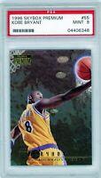 KOBE BRYANT 1996-97 Skybox Premium Rookie Card RC #55 PSA 9 Mint Lakers