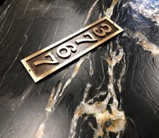 Custom Address Plaque FREE SHIPPING! Vertical Rectangle Bold Font Brass