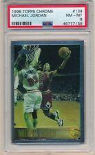 MICHAEL JORDAN 1996/97 TOPPS CHROME CARD #139 CHICAGO BULLS PSA 8 NM-MT $600+