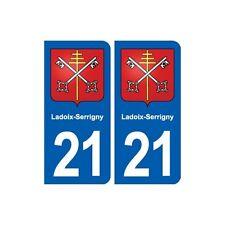 21 Ladoix-Serrigny blason autocollant plaque stickers ville arrondis